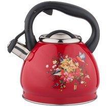 Чайник Со Свистком Agness Торжество, Индукцион.Дно, 3,0Л, цвет красный - L&K
