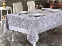 """Скатерть """"KARNA"""" с кантом NEO COTON 160x220 см, цвет серый - Bilge Tekstil"""