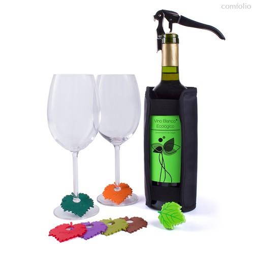 Набор для вина Wine Leaf, цвет черный - Koala