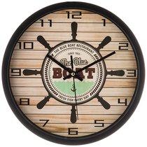 Часы Настенные Кварцевые Boat Диаметр 31 см Диаметр Циферблата 27,5 см - Arts & Crafts