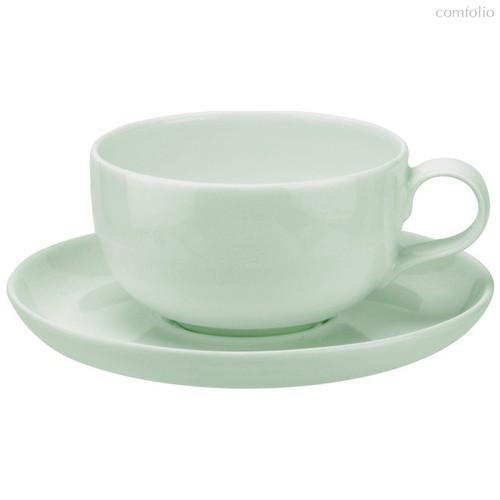 """Чашка чайная с блюдцем Portmeirion """"Выбор Портмейрион"""" 250мл (зеленая) - Portmeirion"""