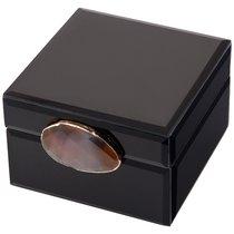 Шкатулка Коллекция Granite Цвет:Чёрный 12,5x13,5x8 см