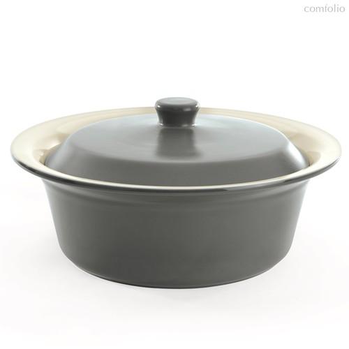 Керамическое блюдо для запекания круглое 24см, цвет серый - BergHOFF