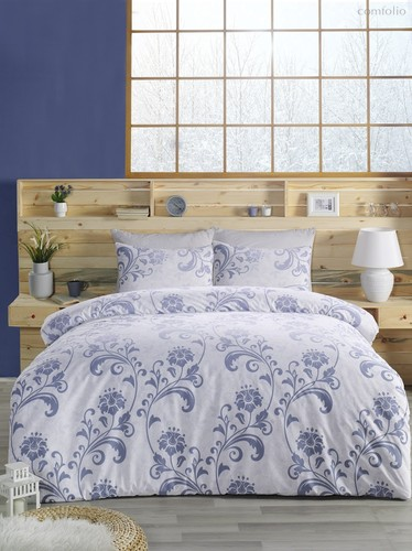 Постельное белье Ranforce Lucian, цвет голубой, размер 2-спальный - Karna (Bilge Tekstil)