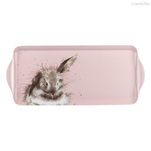 """Поднос прямоугольный с ручками Pimpernel """"Забавная фауна. Пушистый кролик"""" 38,5х16,5см - Pimpernel"""
