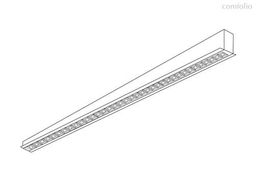 Donolux LED Eye св-к встраиваемый, 48W, 1289,2х48мм, H36мм, 3900Lm, 34°, 3000К, IP20, корпус черный,, цвет черный - Donolux