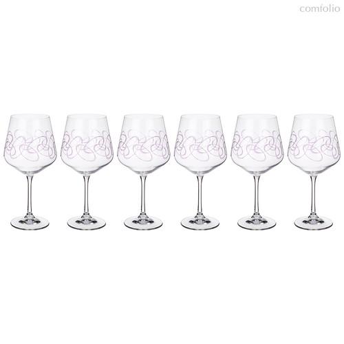 Набор бокалов для вина из 6 шт. SANDRA 570 мл ВЫСОТА=22 СМ. (КОР=1Набор.) - Crystalex