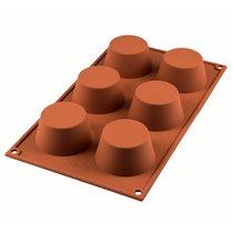 Форма для приготовления маффинов Muffin 18 х 33,5 см силиконовая - Silikomart