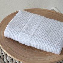"""Полотенце микрокотон """"KARNA"""" TRUVA двухсторонний 40x60 см 1/1, цвет белый, 40x60 - Bilge Tekstil"""