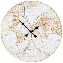 Часы Настенные Кварцевые Карта Мира 59,5x59,5x6 см - FuZhou Chenxiang
