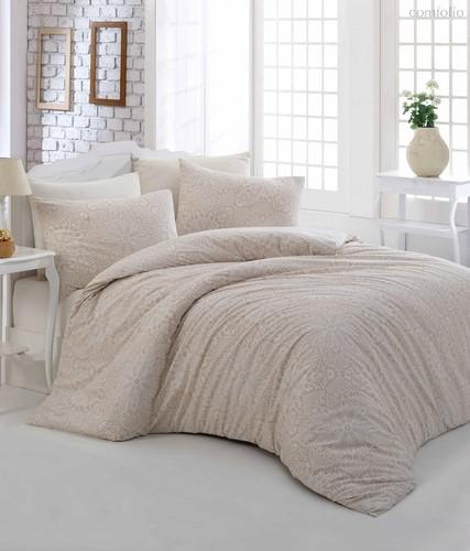 Постельное белье Ranforce Rozi, цвет кремовый, размер Евро - Altinbasak Tekstil