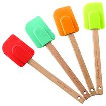 Набор из 4 силиконовых лопаток Nordic Ware с деревянными ручками, ассорти - Nordic Ware