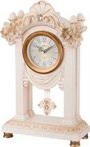 Часы Настольные Кварцевые С Маятником Белые Цветы 26, 5X12X45, 5 см Диаметр Циферблата 11 см - Shantou Lisheng