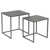 Набор кофейных столиков Velluto, антрацитовый, 2 шт. - Berg