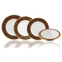Сервиз столовый Noritake Ксавьер,золотой кант на 6 персон 25 предметов, фарфор - Noritake