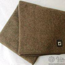 Одеяло INCALPACA (46% шерсть альпака, 33% шерсть мериноса,15% хлопок) OA-3, цвет коричневый, 195x215 см - Incalpaca TPX