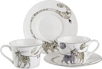Чайный Набор Котики На 2 Персоны 4 Пр. 200 Мл - Porcelain Manufacturing Factory