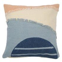 Чехол на подушку с геометрическим принтом и бахромой из коллекции Ethnic, 45х45 см, 45x45 - Tkano