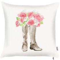 """Чехол для декоративной подушки """"Chelsi"""", P502-8237/1, 43х43 см, цвет розовый, 43x43 - Altali"""