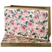 Комплект Бумажных Пакетов Из 10 Шт. Винтаж. Пионы 60x40x23 см - Vogue International