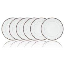 """Набор из 6 тарелок закусочных Noritake """"Рочель,платиновый кант"""" 22см - Noritake"""