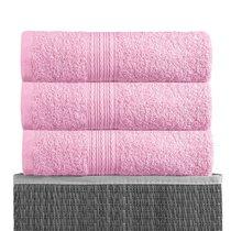 Розовая 150х210 Простыня Махровая BAYRAMALY, цвет розовый, 150x210 - Bayramaly