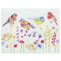Доска стеклянная 40х30см Садовые птички - Lesser & Pavey