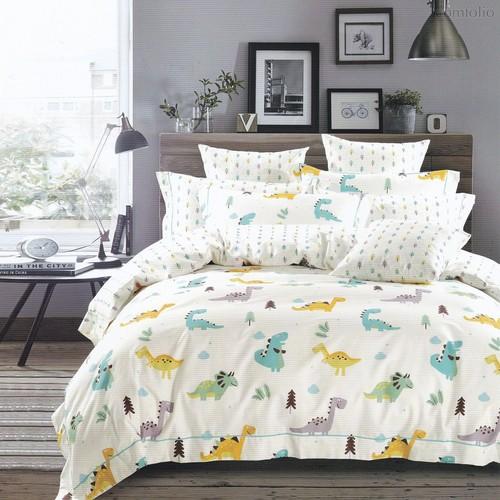 Постельное белье Karna Delux Talen, подростковое, цвет желтый, 1.5-спальный - Karna (Bilge Tekstil)