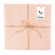 Скатерть на стол из умягченного льна с декоративной обработкой цвета пыльной розы Essential, 143х250, цвет розовый, 143x250 - Tkano