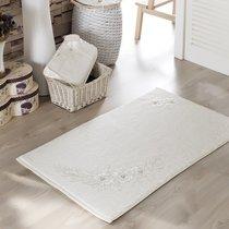 Французский кружевной коврик Romantic, махровый, цвет молочный, размер 60x90 - Irya