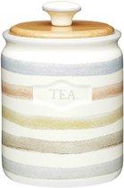Классик Емкость для чая с деревянной крышкой керамическая 800мл 16х11см - KitchenCraft