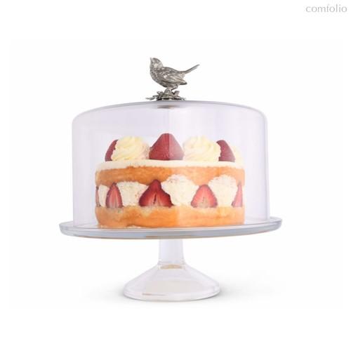 Блюдо для торта Vagabond House Птичья трель 31см, фарфор - Vagabond House