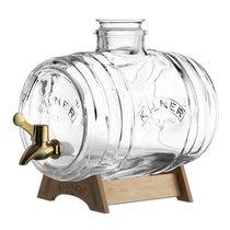 Диспенсер для напитков Barrel на подставке 3 л в подарочной упаковке - Kilner