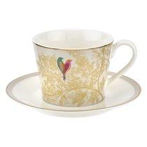 "Чашка чайная с блюдцем Portmeirion ""Сара Миллер.Челси"" 200мл (светло-серая) - Portmeirion"