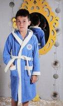 """Халат детский махровый """"KARNA"""" с капюшоном SILVER (Голубой) - Bilge Tekstil"""