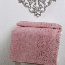 Полотенце махровое Karna Esra, цвет розовый, размер 50x90 - Karna (Bilge Tekstil)