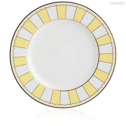 "Набор из 2 десертных тарелок 21см ""Карнавал"" (желтая полоска) п/к, цвет желтый - Noritake"