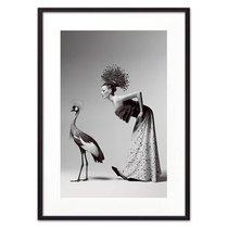 Девушка и журавль, 21x30 см - Dom Korleone