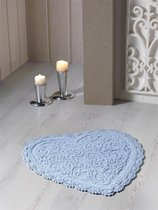 "Коврик для ванной ""MODALIN"" кружевной SISLEY 60x65 см 1/1, цвет голубой, 60x65 - Bilge Tekstil"