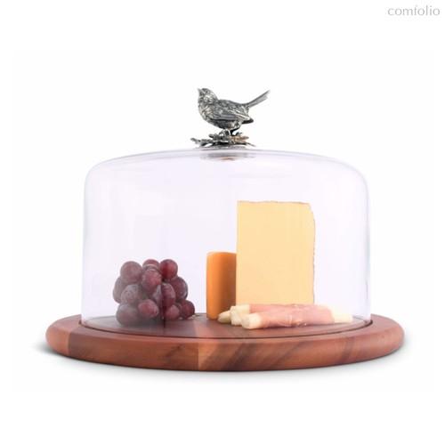 Доска для сыра Vagabond House Птичья трель 33см, дерево - Vagabond House