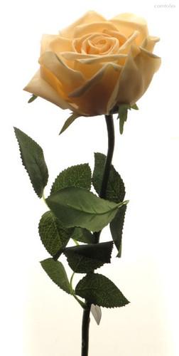 Роза Гран При розовый жемчуг 65 см живое прикосновение (24 шт.в упак.) - Top Art Studio