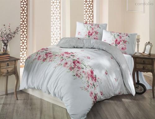 Постельное белье Ranforce Belissa, цвет ментоловый, размер 1.5-спальный - Altinbasak Tekstil