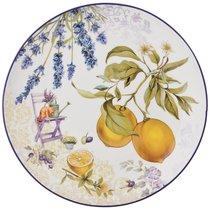 Набор Тарелок Обеденных Прованс Лимоны 2Пр. 25,5см, цвет желтый, 25 см - Meizhou Yuesenyuan