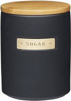 Банка для хранения Сахар Матовая черная1л, 12х16см - KitchenCraft