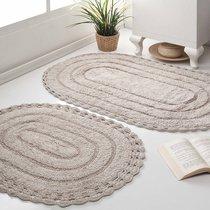 Набор кружевных ковриков Yana, цвет коричневый - Bilge Tekstil