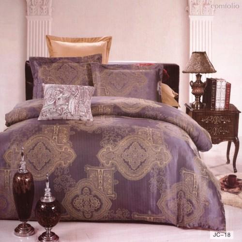 Комплект постельного белья JC-18, цвет синий, размер 2-спальный - Valtery