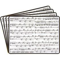 Подставки на пробке средние Музыкальные 30х23см (4шт) - Lesser & Pavey