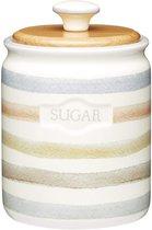 Классик Емкость для сахара с деревянной крышкой керамическая 800мл 16х11см - KitchenCraft