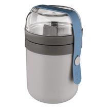 Пищевой контейнер двойной серый Leo, цвет серый - BergHOFF