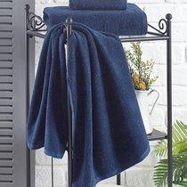 """Полотенце махровое """"KARNA"""" EFOR 420 гр (40x60) см 1/1, цвет синий, 40x60 - Bilge Tekstil"""